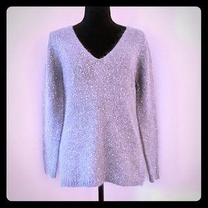 Joe Fresh Silver Sparkle Sweater